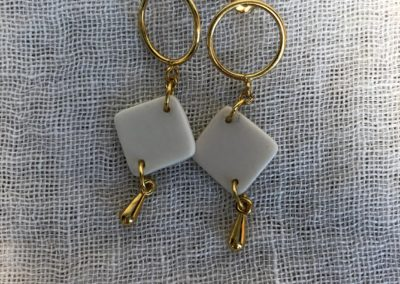 VALERIE-COLOMBEL-Boucles d'oreilles attache argent 925 doré 24 K 30 photo 15