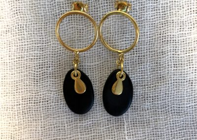 VALERIE-COLOMBEL-Boucles d'oreilles attache argent 925 doré 24 K 30 photo 18