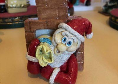 Marlaine Morin - Marlou Père Noël dans la cheminée